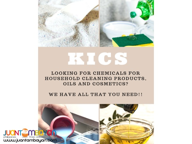 FOR SALE RAW MATERIALS FOR HOUSEHOLD PRODUCTS, OILS AND COSMETICS