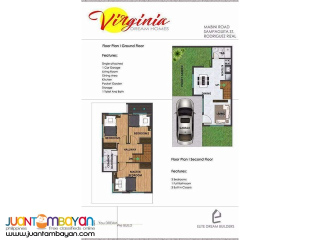 Single House and Lot for Sale in Burgos Montalban near Hiway Virginia