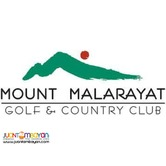 Mount Malarayat Gold and Country Club Lot For sale