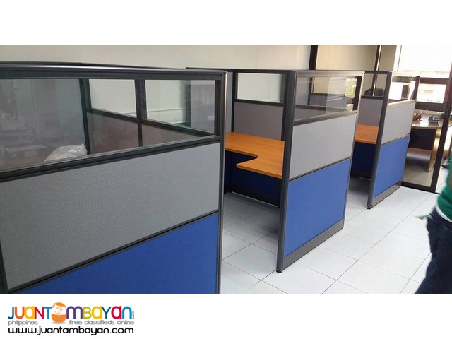 Office Partition with Glass top
