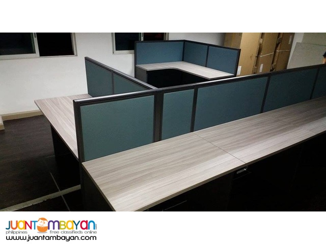 Office Partition with Office Table Costumize