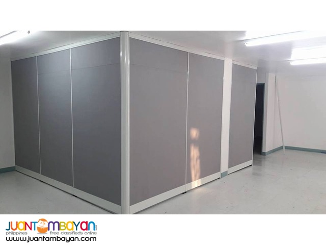 Gray Fabric Floor to Ceiling Office Partition