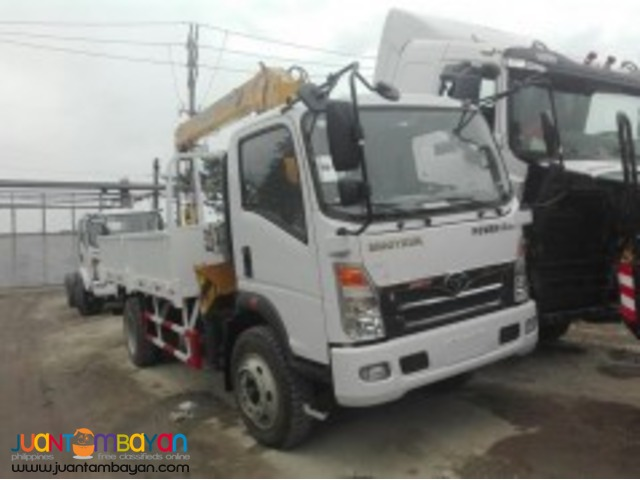 6 Wheeler Boom Truck with 3.2T Boomer euro IV