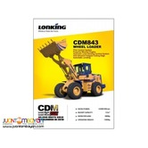 Wheel Loader CDM843 ,Lonking