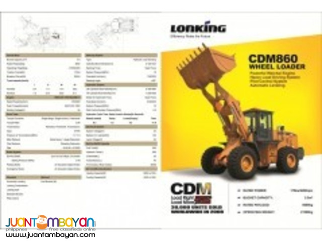CDM860 Wheel Loader,Lonking