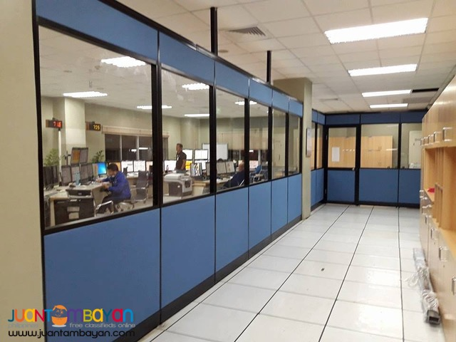 -Floor to Ceiling Office Partition