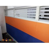 Glass Stripes Design with Office Partittion