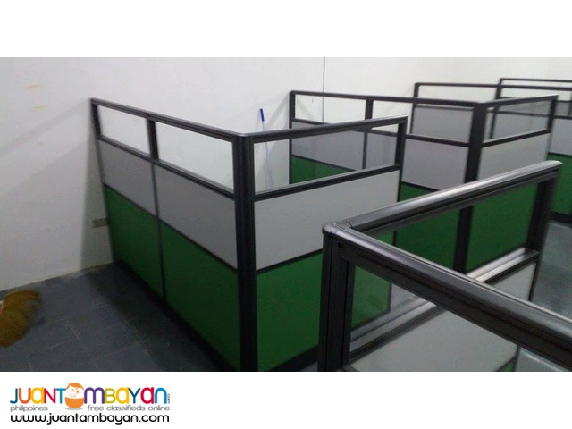 Full fabric with Glass Office Partition