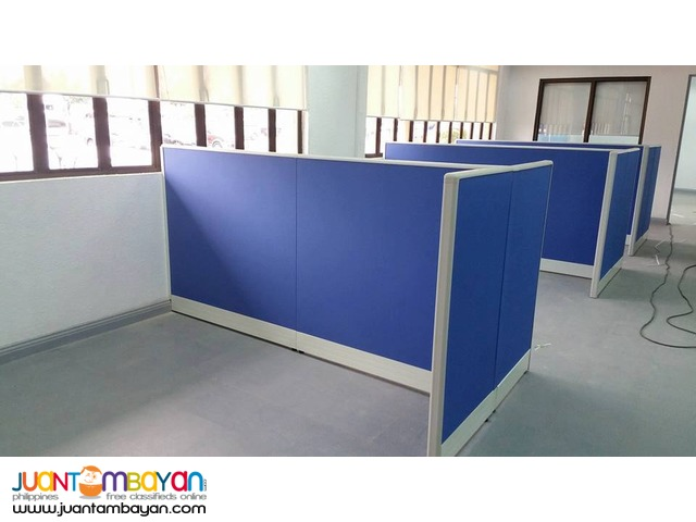 Blue full fabric Office Partition