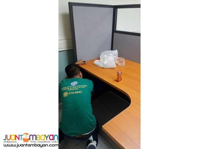 Laminated Table Office Partition