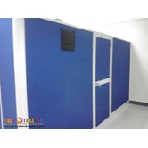 JVSG- Blue full fabric office partition