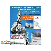 9D8N Europe with Air Ticket