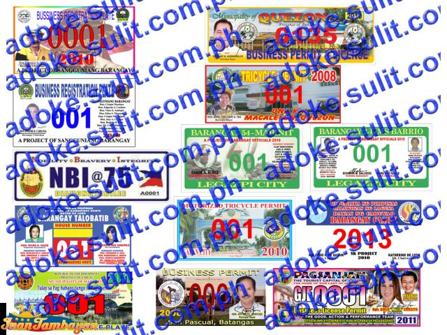 Business Tricycle Pedicab Car Vehicle House Number Plates