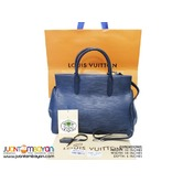 SALE - LOUIS VUITTON MARLY BAG - LV MARLY EPI MM NAVY BLUE BAG