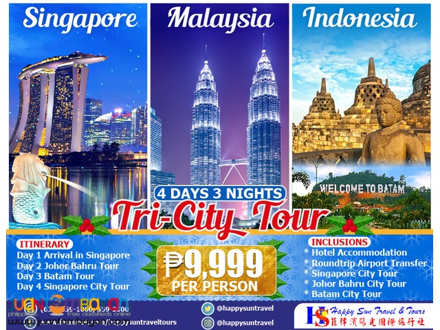 4D3N Singapore Tri-City (Singapore – Malaysia – Indonesia