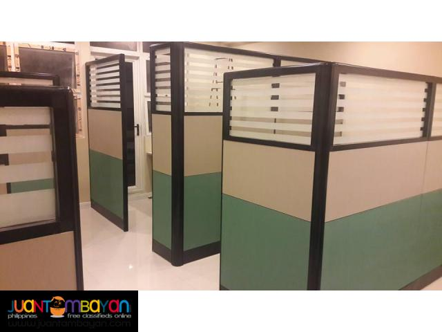 Two toned with Stripes Design Office-PARTITION