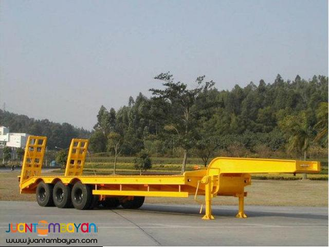 tri axle low bed trailer