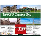 9D8N Europe 5 Countries Package