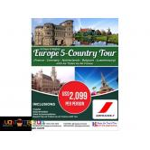 9D8N Europe 5 Countries Package via Air France