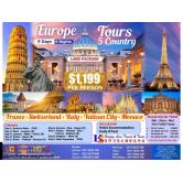 9D8N Europe 5-Country Tour Package