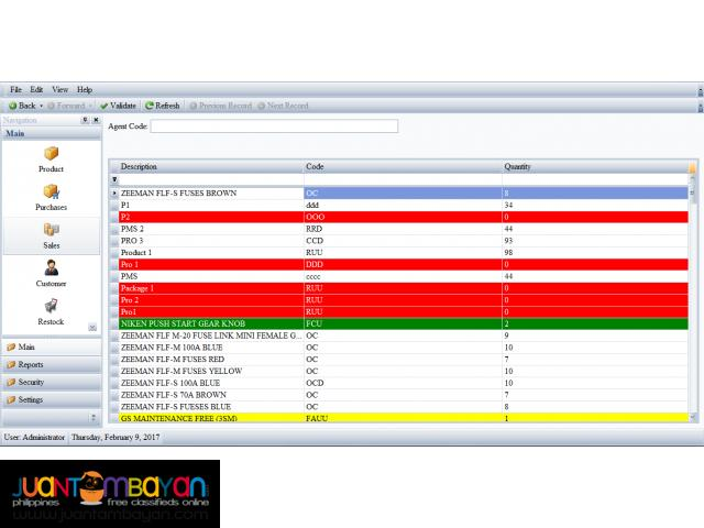 Inventory and Sales System for Autoparts (Software)