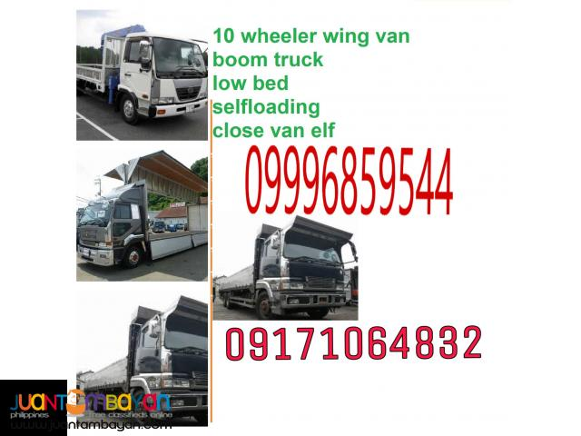 Truck For Rent 10 Wheeler Wing Van Forwarding Manila