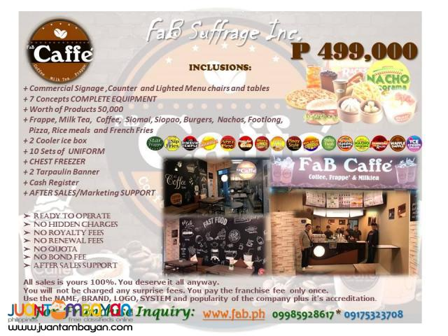 FaB Caffe' Coffee Shop Franchise Business