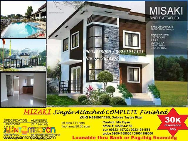 Zuri Residences House n Lot for Sale n Taytay near Taguig
