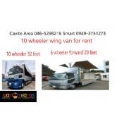 wing van truck boom truck for rent 10 wheeler drop side rental