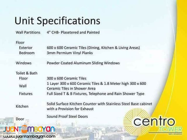 2 BEDROOMS FOR SALE IN CUBAO CENTRO TOWER IN QUEZON CITY