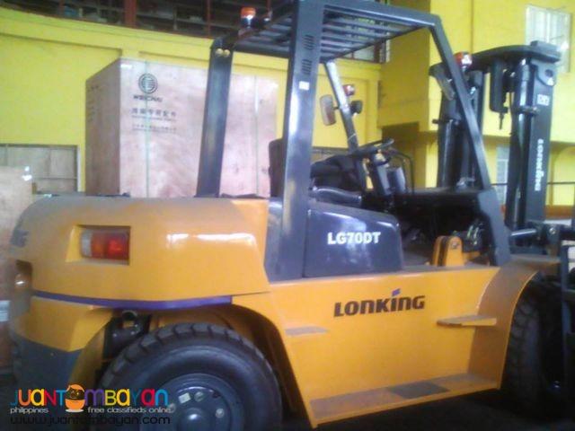 Lonking LG70DT Diesel Forklift Brand New