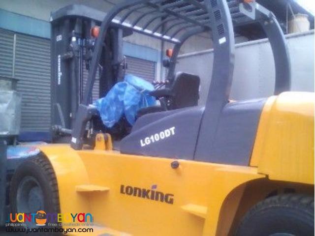 Lonking LG100DT Diesel Forklift Brand New