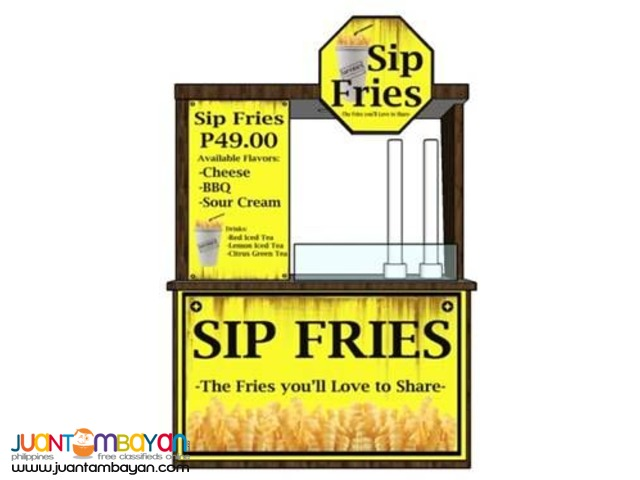 Sip Fries Food Cart Franchise 2018 0917-1254451/0939-9163425