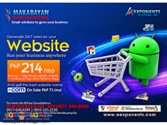 Advance Website Design for only 5160 per year