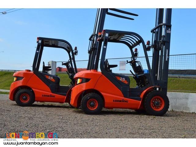 Brand New! Lonking LG25DT Diesel Forklift 2.5Tons