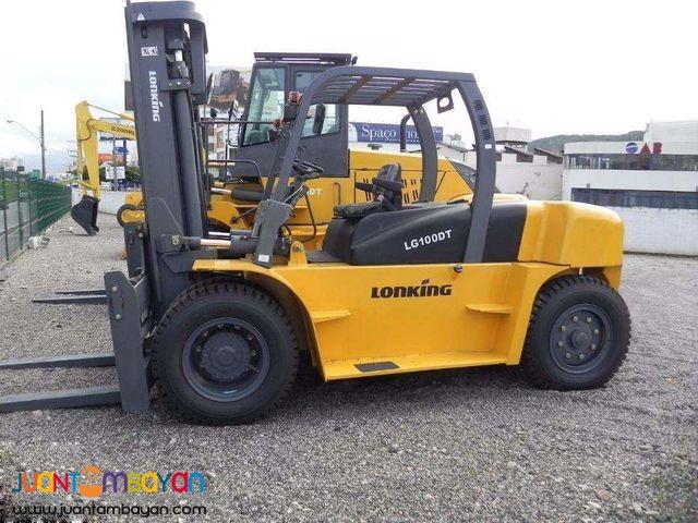Brand New! Lonking LG100DT Diesel Forklift 10 Tons