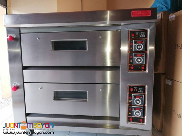 2 DECK OVEN (4 TRAY GAS OVEN)