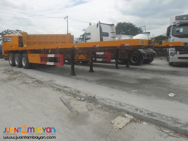 40ft Tri-Axle Flatbed Semi-Trailer (12 lock) 45Tons Capacity