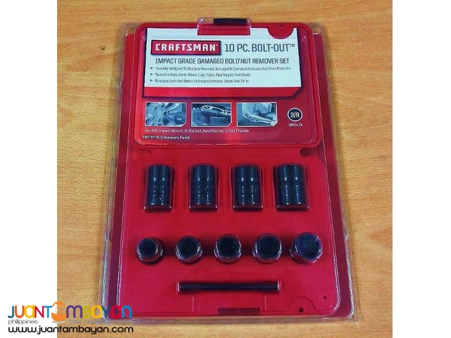 Craftsman 10 Piece Impact Grade Damaged Bolt Nut Remover Set Pasay
