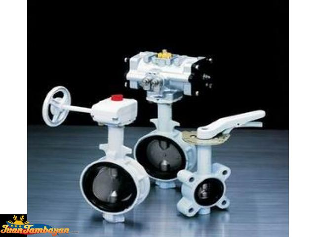 Motorized, Pneumatic, Electric Butterfly Valve With Actuator