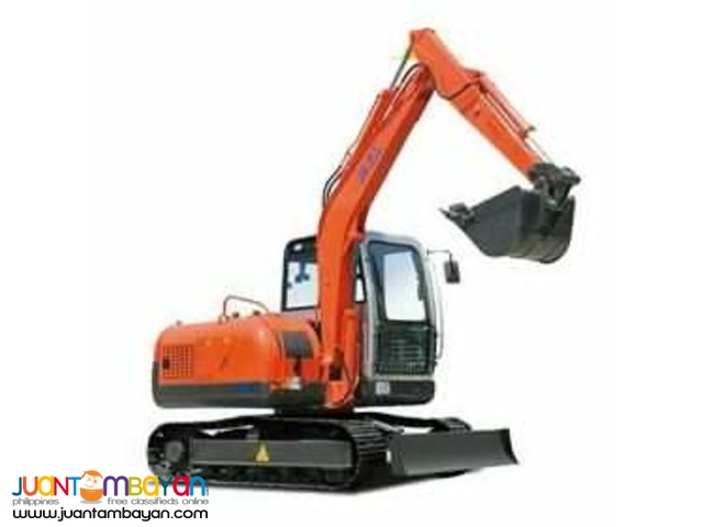 Jinggong JG80 Hydraulic Excavator (.25 to .30 m3)  Chain-Type