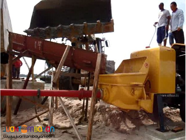 PORTABLE CONCRETE PUMP (60M-6 FLOOR HIGH)