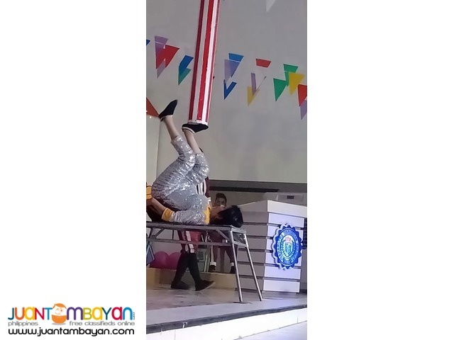 Circus theme party performers acrobatics show