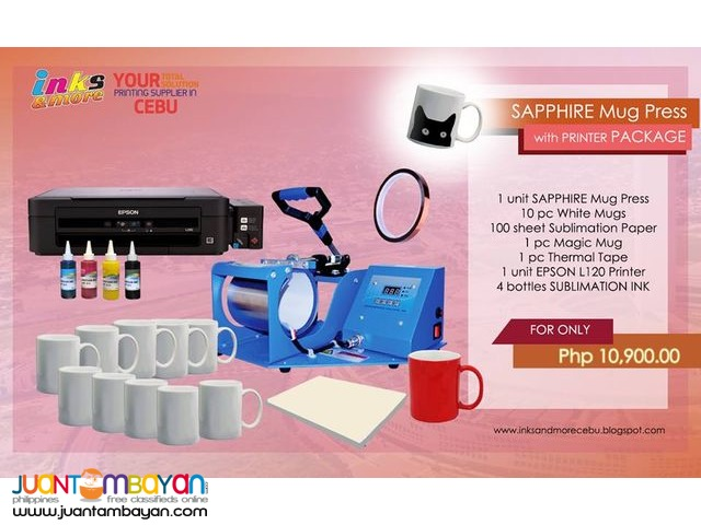 Cebu Supplier - Mug Press with Printer Package | Cebu | Inks