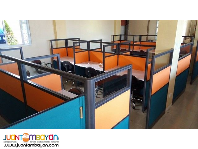 Office Partition with Glass Full fabric