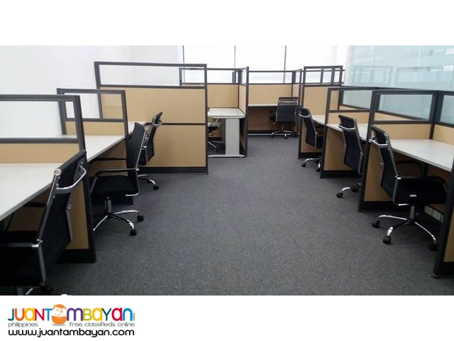 Two toned Office Partition Cubicles