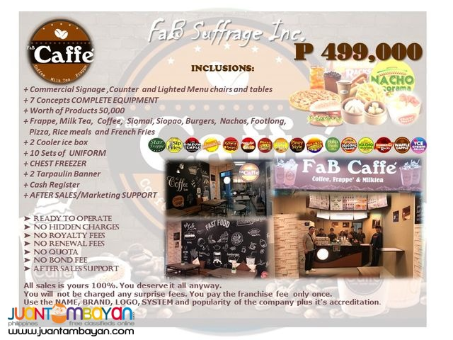 Fab Caffe Coffee shop Snack bar and cafe franchising business
