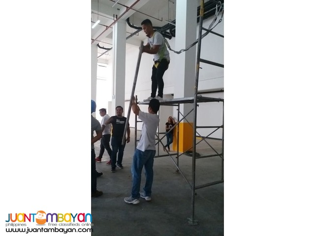 Advance Scaffold Training Actual Scaffold Erection Dismantling