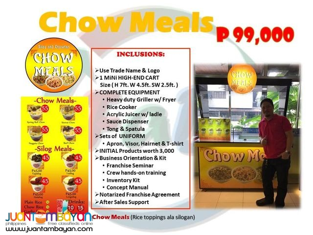 Chow Meals Franchising Food Cart 2018
