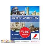 9D8N Europe 5 Country Tour via Air France